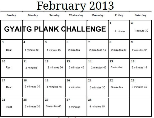 This month is going to be rough one!  But looks fun!